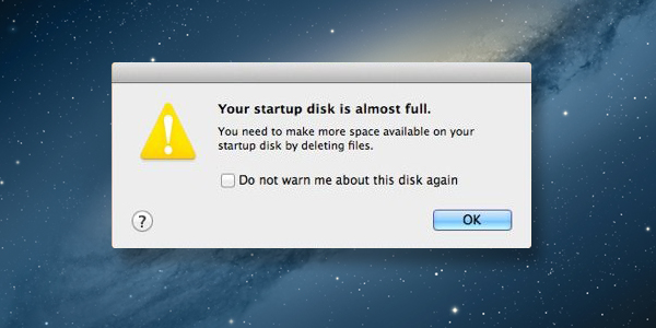 Your startup disk is almost full now what