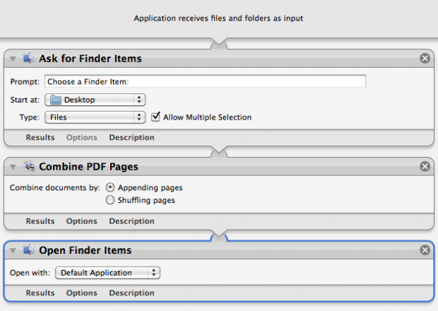 Combine PDF Documents Workflow