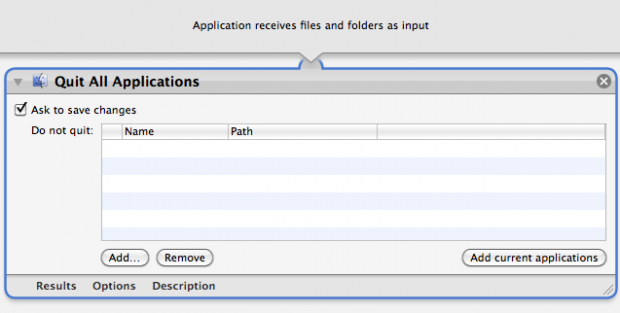 Quit All Applications Workflow