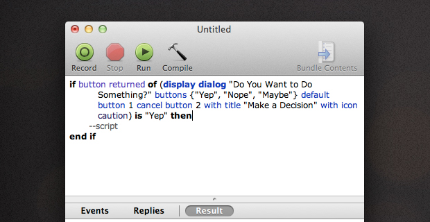 Inserting the Dialog