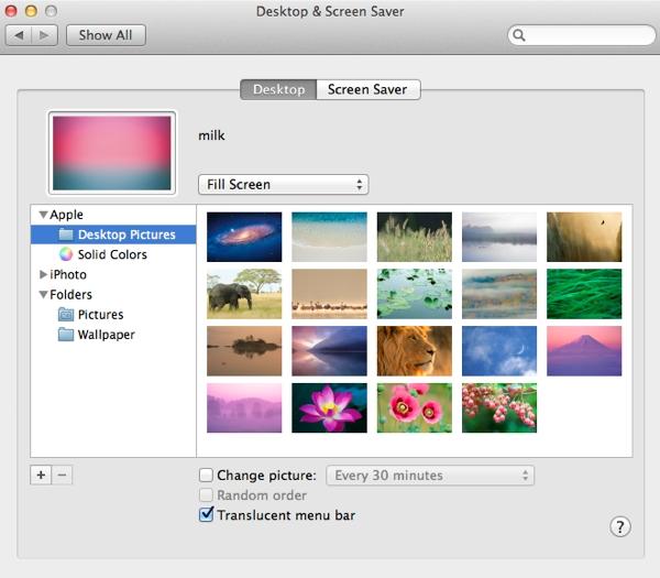 Set a nice wallpaper for your desktop background