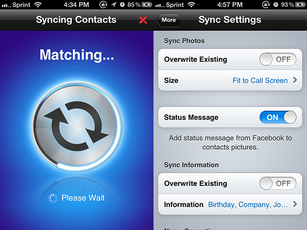 sync facebook contacts to iphone sync and manage your contacts in address book 1745