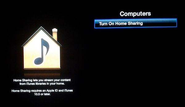 Apple TVHomeSharing