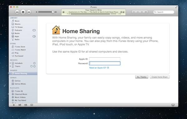 iTunesHomeSharing