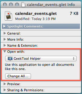 If you have problems opening and importing geeklets, change how they're opened.