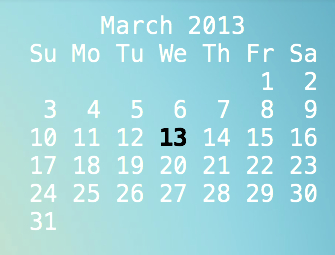 Highlight the current date.