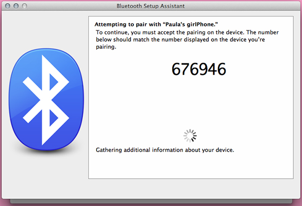 Make sure the six-digit number checks out on your phone and your Mac and confirm on your phone.