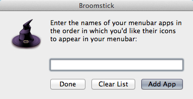 List all of your applications in the order youd like them to appear in your menu bar