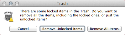 I've got locked Trash files, but I don't know which they are.