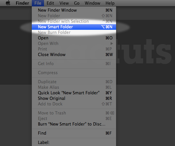 You Can Create A New Smart Folder From The Menu Bar By Going To File, New Smart Folder