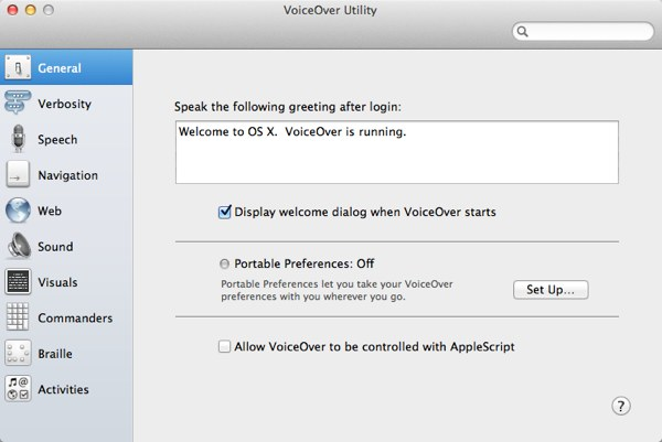 VoiceOver Utility is where we can configure all the customisable options of this great accessibility tool