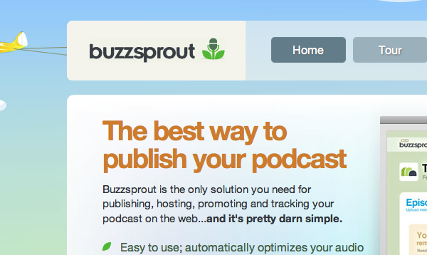 Buzzsprout is a great tool for publishing your podcast with one click.