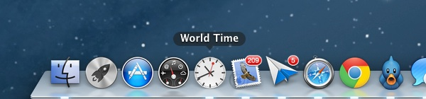 The Word Time app in the Dock