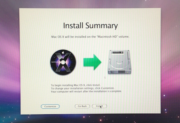 Installing OS X 10.5 Leopard