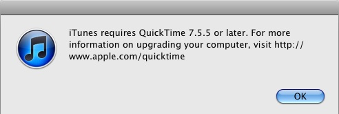Updating QuickTime
