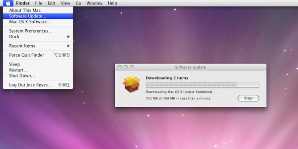 Upgrading OS X and iTunes following installation of OS X 10.5 Leopard