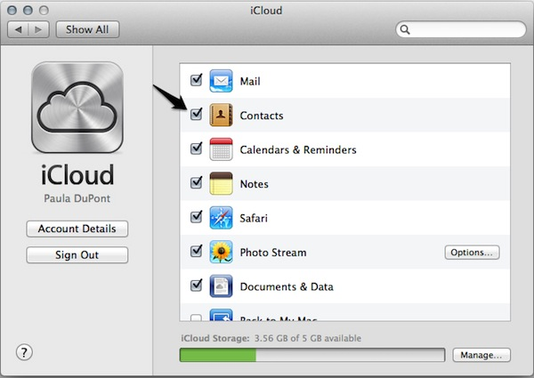 You can sync your contacts with iCloud.