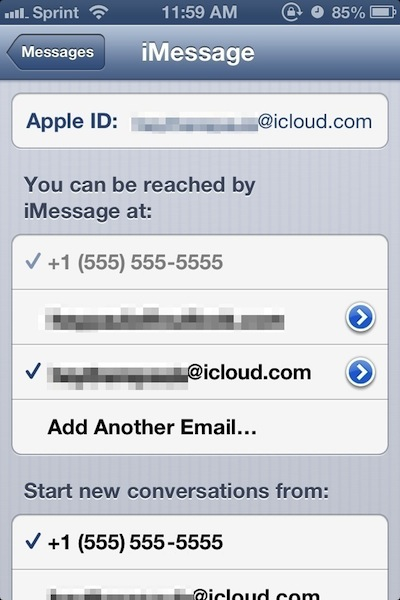 Ensure you are logged in with your Apple ID and any email addresses you intend to use are listed.
