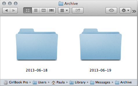 Your Messages Archive folder is in the OS X Library folder.