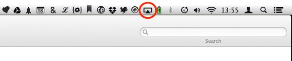 AirPlay Mirroring can be activated via the menu bar