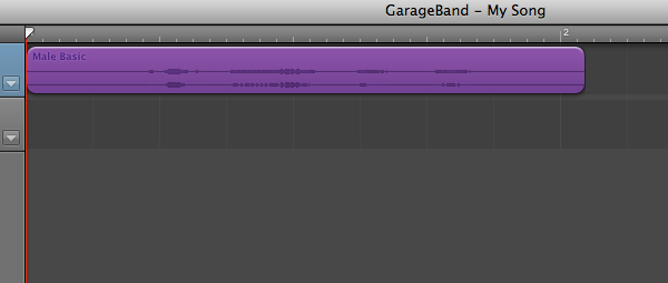 GarageBand provides a waveform view and you can make a number of edits including cutting out sections if necessary