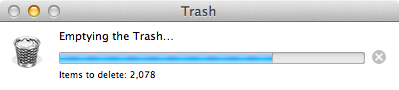 Deleting things takes a while.