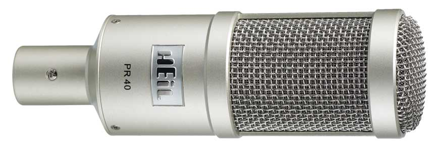 The Heil PR40 is a well-reviewed XLR microphone.