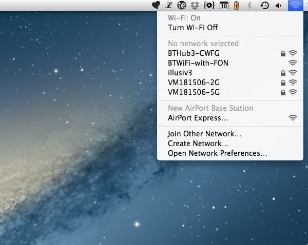 Mac OS X will detect a new AirPort base station and automatically start the setup process.