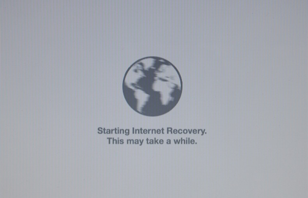 Starting Internet Recovery