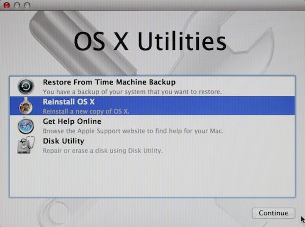 Reinstall OS X