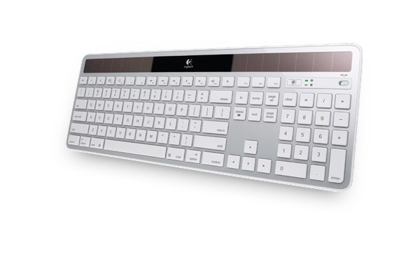The Logitech K750 may still be wireless but its solar panel provides almost unlimited charging