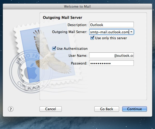 Use the new outgoing mail server settings and ensure authentication is turned on.