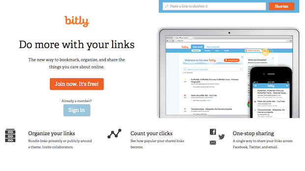 Bitly is the largest link shortening service on the internet, launched in 2008.