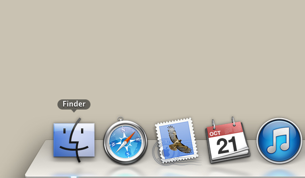 Click the Finder icon.