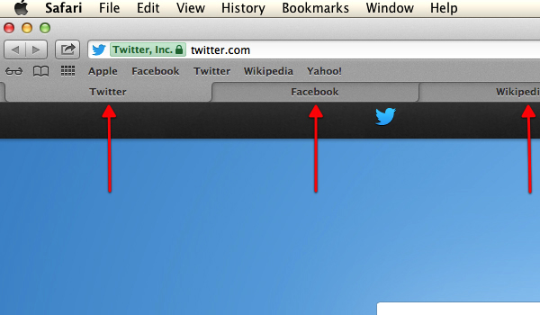 Here is an example of tabbed browsing. You can jump from tab to tab by clicking on the tab's title.