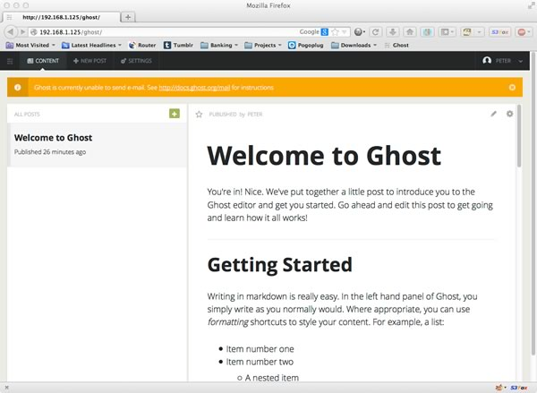 Editing a Ghost Blog