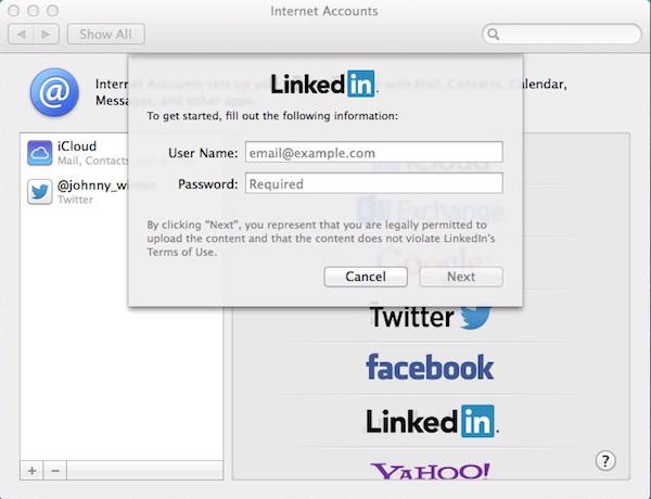 Adding LinkedIn