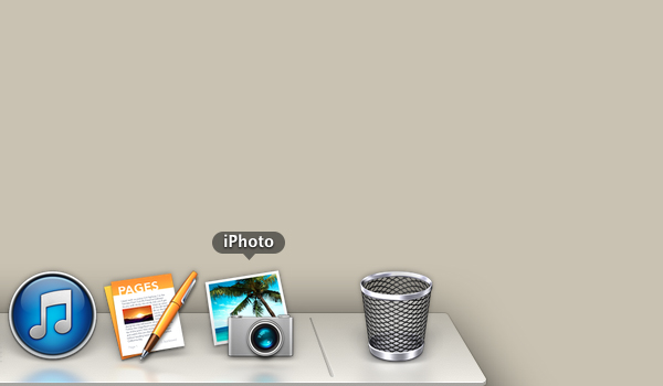 Click the iPhoto icon.