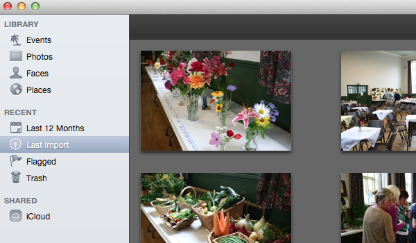 Your selected file(s) will then be imported into your iPhoto library.