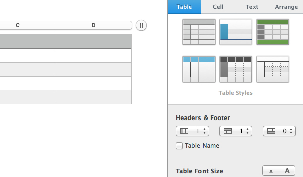 Modify your table further by visiting the Format sidebar.