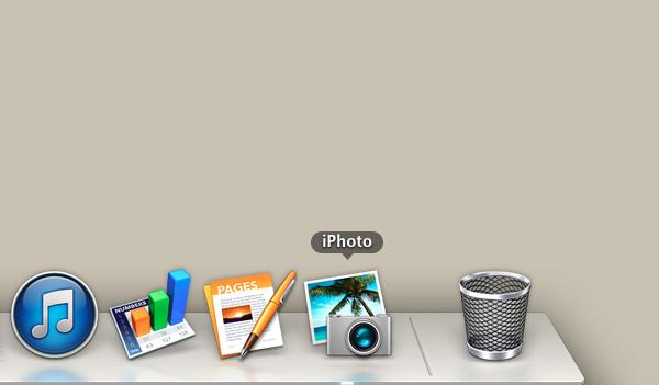 Click the iPhoto icon.