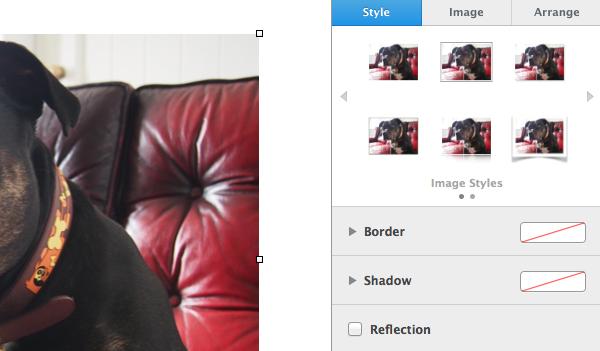 Edit media by visiting the Format sidebar.