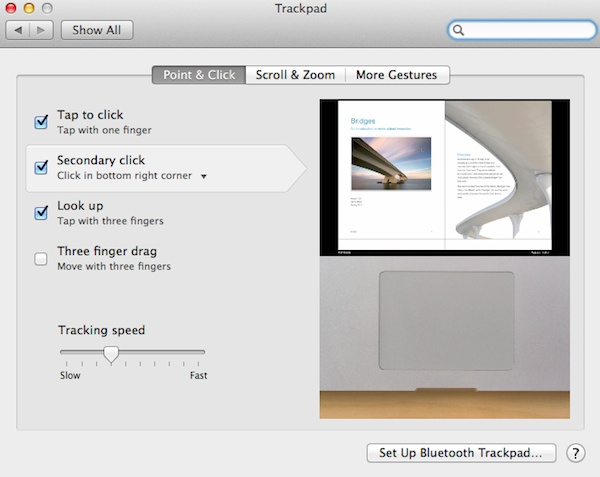 Enable secondary click on the Trackpad