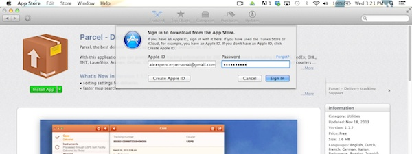 Installing an App Store Application