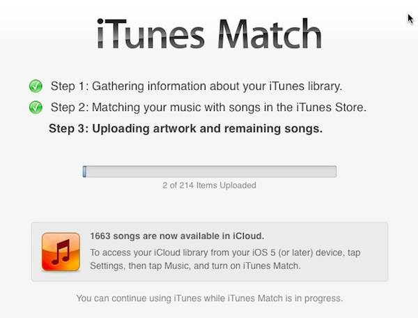 If a large portion of your library is unique (one-off) music, you may want to move to the fastest internet you can find for Step 3 of iTunes Match, when music that isn't in the iTunes store is uploaded.