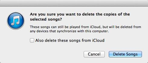 After your music has been matched, you can delete the DRM-protected songs, but don't check the box to delete them from iCloud.