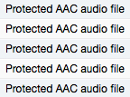 "After sorting your music by file kind, look for the phrase ""Protected AAC audio file"" to indicate a track has Digital Rights Management (DRM)."