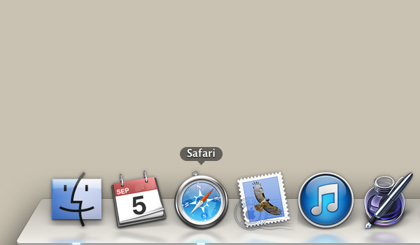 Click Safari icon in icon bar