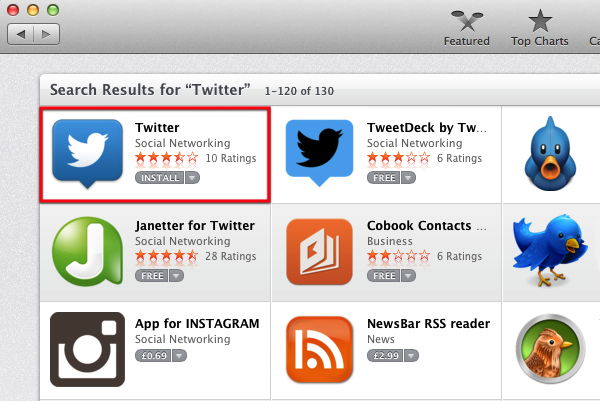 Install Twitter.