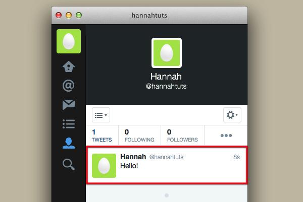 Example tweet.